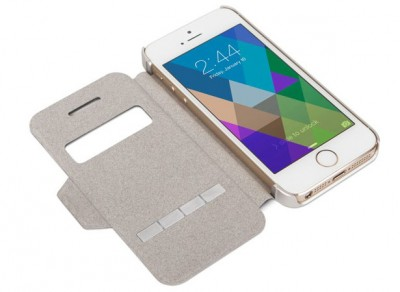Sleek touch sensitive iPhone case open, For iPhone5 and iPhone 5s