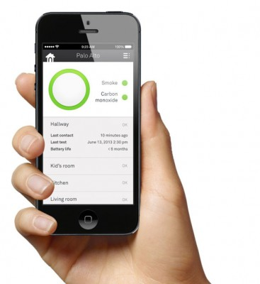 Smart smoke and carbon monoxide alarm, Connects to smart phone