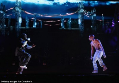 """Rapper Snoop Dogg  used hologram technology to """"bring back"""" Tupac at the Coachella."""