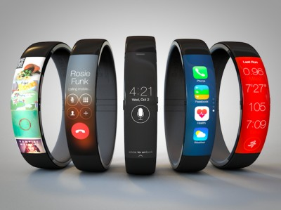 Images of the iWatch with fitness-tracking abilities