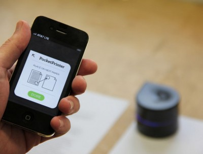The mini mobile robotic printer is compatible with any device