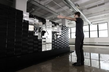 Meet The Massive Interactive Mirror That Makes Spellbinding Pixelated Patterns