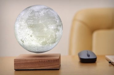 The Livimoon Brings A Levitating, Light-Up Moon Replica To Your Bedside Table!