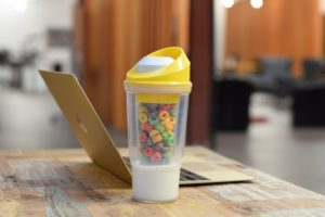 Cereal and milk to go ez-freeze cool gear Walmart portable with milk DIY container