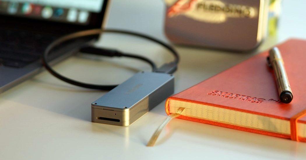 Compact USB thumb drive 2 terabyte SSD capacity data storage