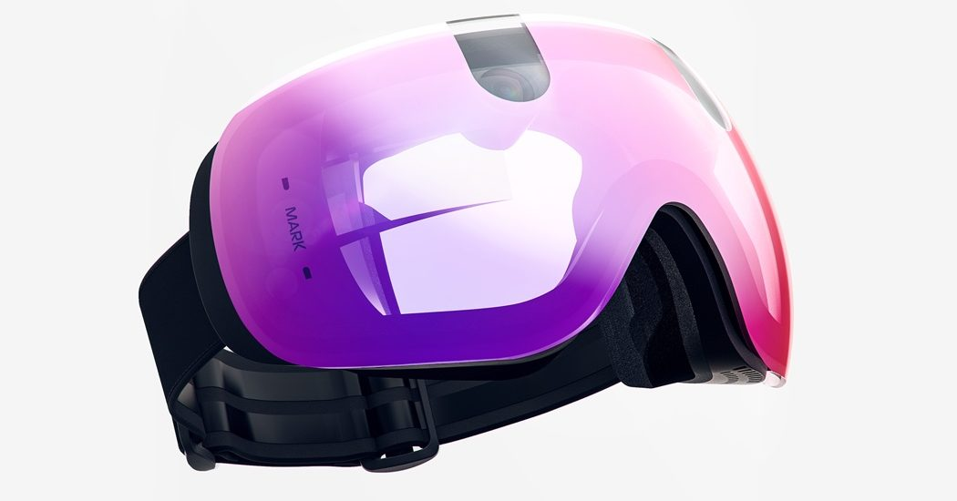 futuristic snow goggles with action cam and editing capabilities protective heavy duty