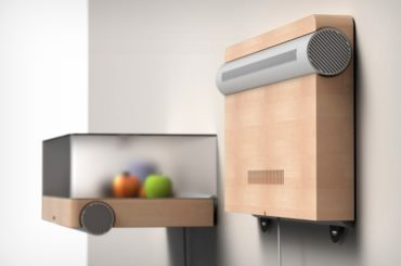 This Wall-Mounted Shelf Is Actually A Micro-Fridge!