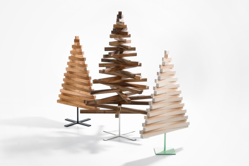 Wooden Artificial Christmas Tree DIY holiday decor simple design holiday tree