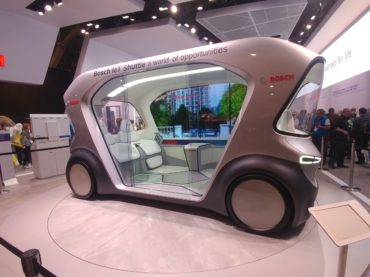 Bosch Brings the All Electric, Self-Driving Pod to CES