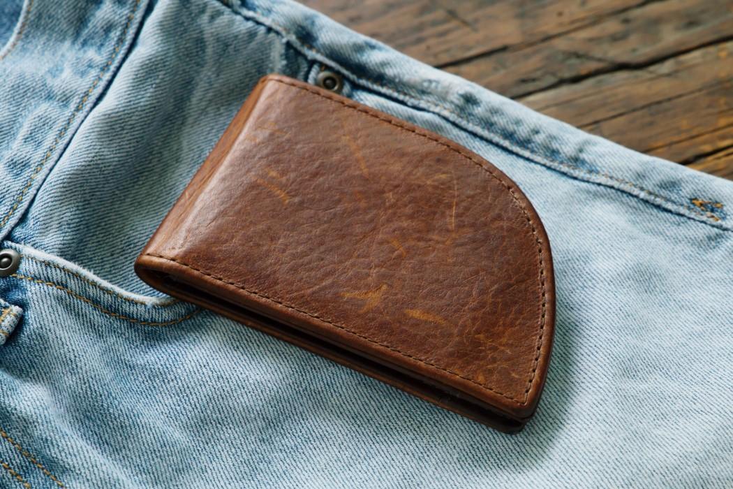 pocket shaped wallet