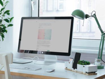 Compact Desk Reorganization