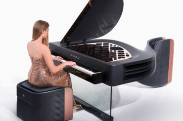 CARBON FIBER HYBRID PIANO LOOKS AMAZING AND SOUNDS PERFECT