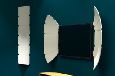 COOL PETAL DESIGN THAT GIVES MAXIMUM SOUND FROM WALL SPEAKERS