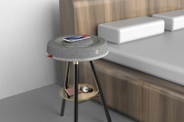 THE WIRELESS CHARGER THAT IS A SPEAKER AND A SIDE TABLE AT THE SAME TIME