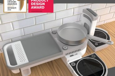 ALL IN ONE INDUCTION COOKTOP WITH SPACE TO PREP AND USE A CUTTING BOARD