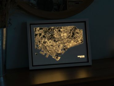 LUMINOUS CITY MAPS ON YOUR WALL – DAY AND NIGHT