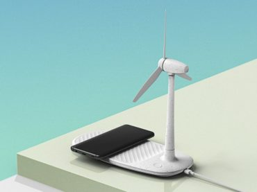 WIRELESS CHARGE AND WIND FARM ALL IN ONE