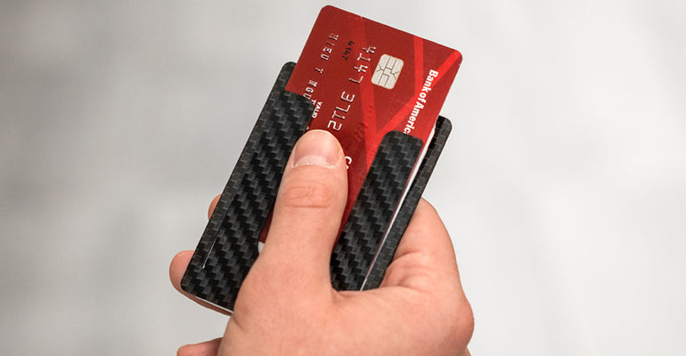 THINNEST WALLET IN THE WORLD IS MADE OUT OF CARBON FIBER