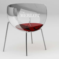 AMUSING WINE GLASS SHAPED CHAIR DESIGN