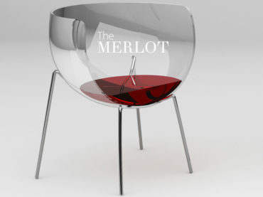 AMUSING WINE GLASS SHAPED CHAIR DESIGN
