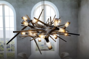 THORN CHANDELIER THAT DERIVES FROM THE RAW AGGRESSIVE PLANT FORM