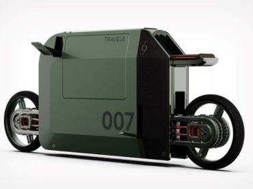 CONCEPT MOTORBIKE THAT FITS IN A SUITCASE