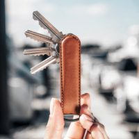 I WANT ONE OF THESE LEATHER KEYCHAINS IN MY POCKET